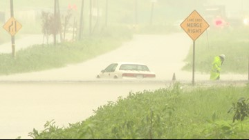 Flash flooding blocks roads, causes traffic headaches throughout the area