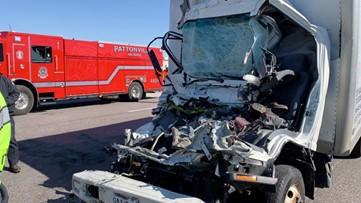 Driver seriously injured in crash on I-70 near Blanchette Bridge