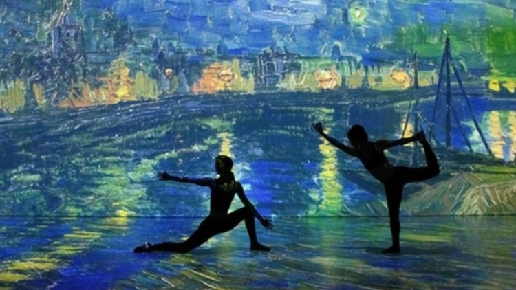 Where you can do yoga inside a Vincent van Gogh painting