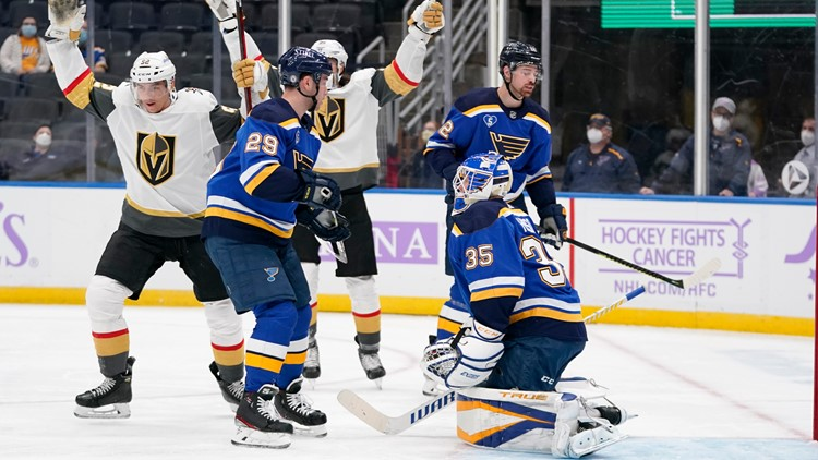 Martinez, Carrier lift Golden Knights to 6-1 win over Blues