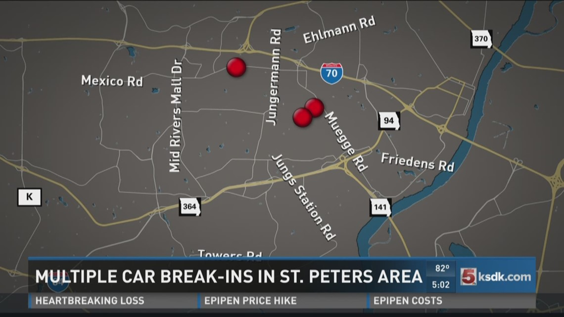 Multiple Car Break Ins In St Peters Area