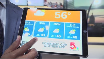 Chester Lampkin uses iPad to give forecast during technology meltdown on TISL