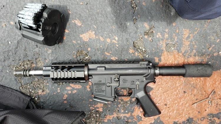 OIS suspect .223 Bushmaster AR