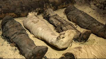 40 mummies discovered in an ancient Egyptian burial chambers