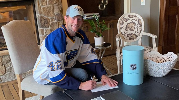 David Backes signs 1-day contract with Blues and leaves fans with a special message