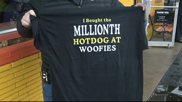 Meet the guy who got the one-millionth hot dog at Woofie's