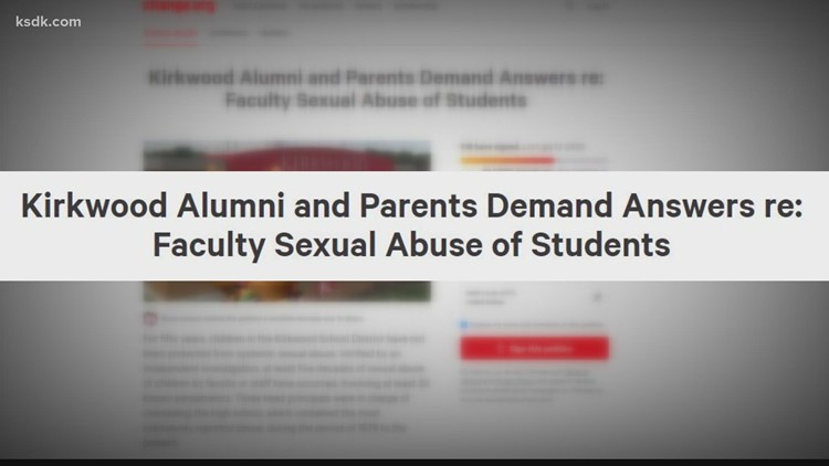 Kirkwood High School alumni petition for officials to step down amid sexual misconduct investigations