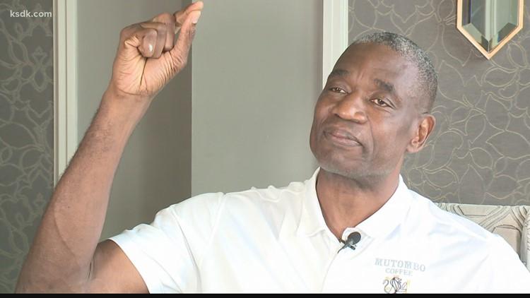 Dikembe Mutombo visits St. Louis