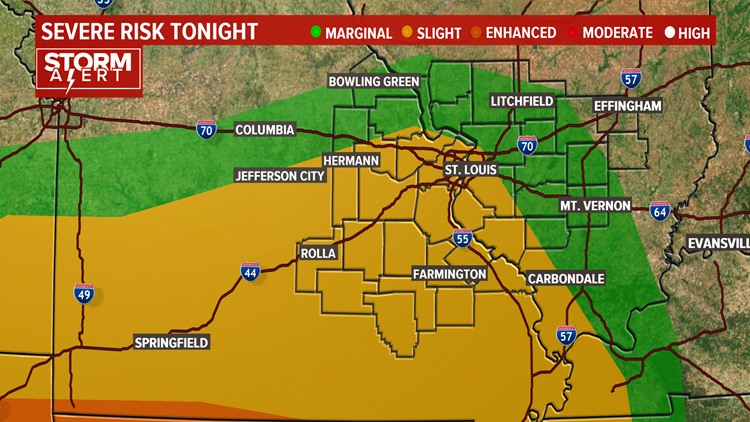 Severe Weather Risk for St. Louis