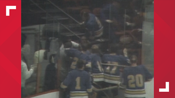 A look back at the worst player-fan-police fight in hockey history — and it involved the Blues