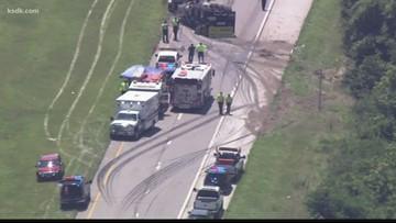 Deadly crash closes Highway 30 in High Ridge | ksdk com