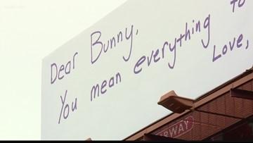 Handwritten loveletter now a billboard