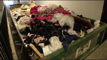 Bra drive organized after hundreds of Victoria's Secret products found in dumpster