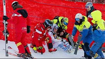 Lindsey Vonn suffers nasty crash at the world championships