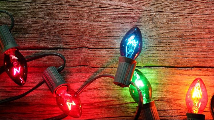 Multi colored Christmas lights C9 C7