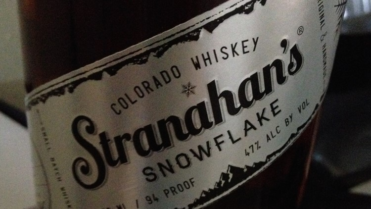"""One of 987 bottles of Stranahan's Colorado Whiskey """"Snowflake."""" They sold for 99 dollars."""
