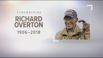 Celebrating the life of Richard A. Overton, who was our oldest living WWII veteran