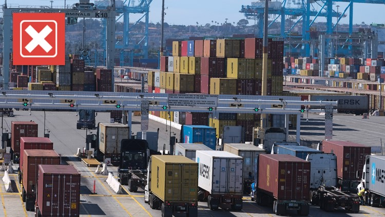 No, shipping backlog at California ports is not caused by California trucking regulations