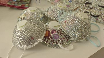 Jordanian Designer Raises Awareness Against Coronavirus by Making Bedazzled Face Masks