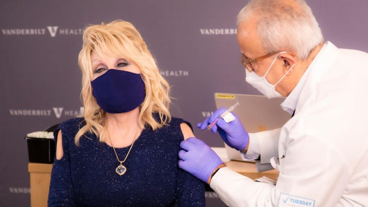 'A dose of her own medicine'   Dolly Parton receives COVID-19 vaccine after helping fund it