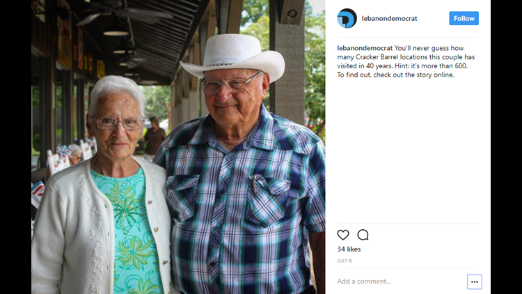 <p>The front porch rocking chairs, souvenir shop and country-style cooking are all reasons why Cracker Barrel is beloved throughout the United States.But none might love the old country store more than Ray and Wilma Yoder.</p>