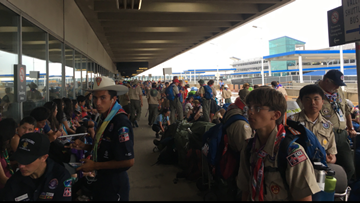 "Boy Scouts vocal about ""extremely challenging"" departures from Charlotte Douglas Airport after World Scout Jamboree"