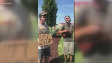 WATCH: Hitchhikers looking for a ride on I-77 surprise man with 'Wagon Wheel' performance
