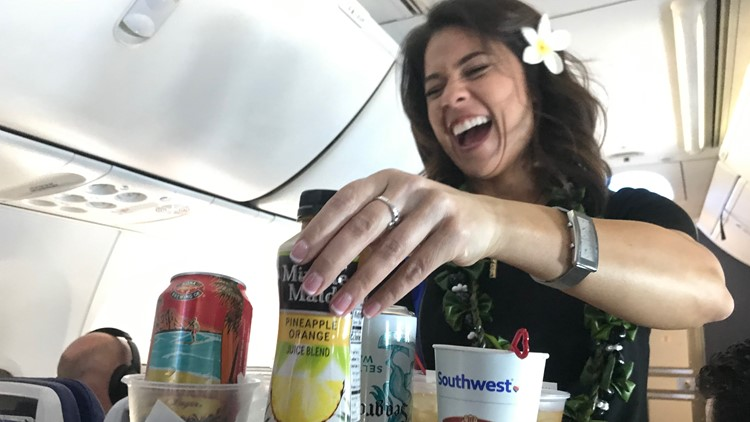 Aboard Southwest Airlines inaugural flight to Hawaii on Sunday, March 17, 2019