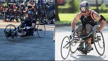 Once paralyzed, North Texas man fueled by faith finishes half Ironman
