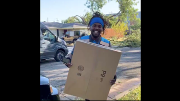 Even tornado damage couldn't stop this Amazon crew from delivering a Dallas woman's package