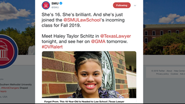 She's heading to law school – and she's only 16