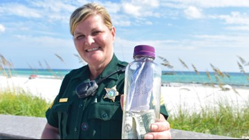 Brian's journey: From Texas to Florida, a bottle holding ashes and a note inside joins two grieving families