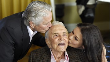 'A living legend'   Michael Douglas wishes father Kirk Douglas a happy 103rd birthday