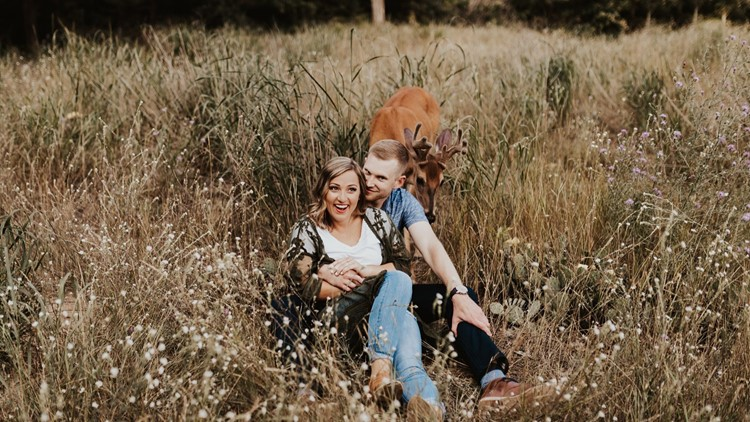 Picture Perfect | Deer does a deer thing, photobombs engagement shoot