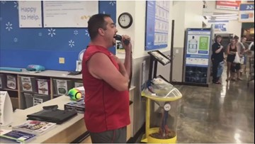 Cleveland man sings National Anthem for Walmart shoppers in Missouri