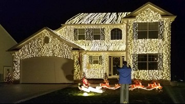Family pays tribute to 'Christmas Vacation' movie with epic light display