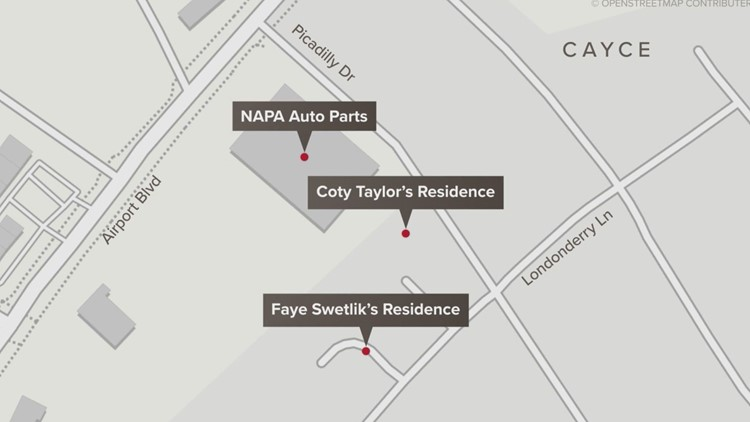 map locations faye swetlik coty taylor