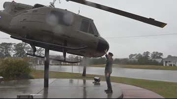 Vietnam veteran reunites with helicopter more than 50 years later at Fort Jackson