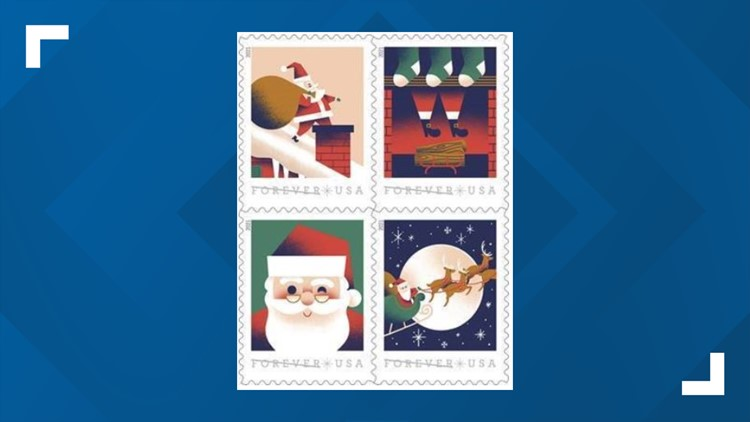 USPS unveils new Santa stamps ahead of the holiday season