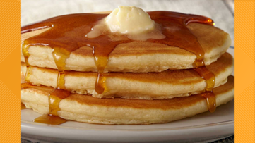 Score free pancakes from IHOP on National Pancake Day