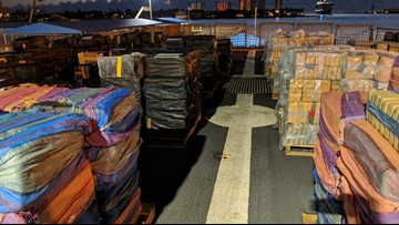 U.S. Coast Guard crews seize 34K pounds of cocaine off coasts of Mexico, Central and South America