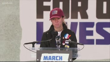 Parkland shooting survivor Sarah Chadwick speaks at MARCH FOR OUR LIVES Rally