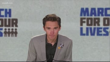 Parkland school shooting survivor David Hogg speaks at March For Our Lives Rally