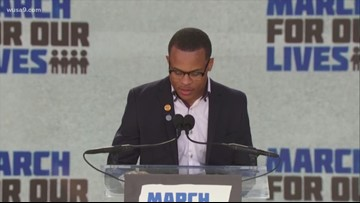 D.C. Native and student at Thurgood Marshall, Zion Kelly speaks at March For Our Lives Rally