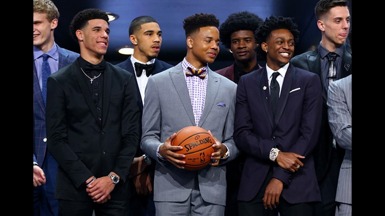 <p>The Philadelphia 76ers selected Markelle Fultz with the No. 1 pick. </p>