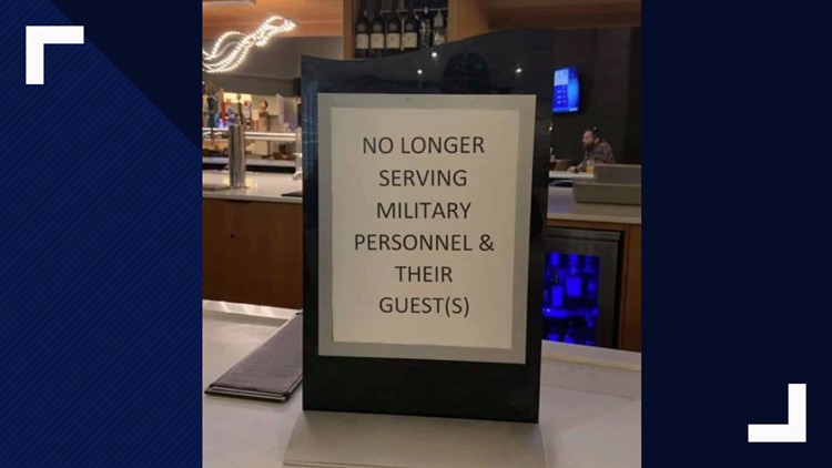 VERIFY: Did this DoubleTree Hotel display a sign denying service to military members?