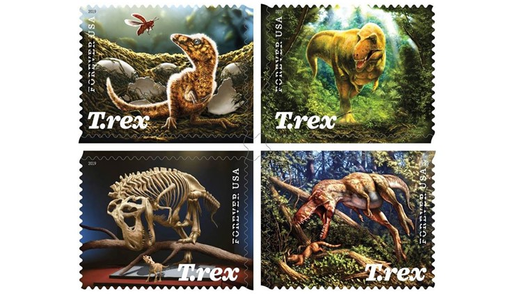 dino stamps