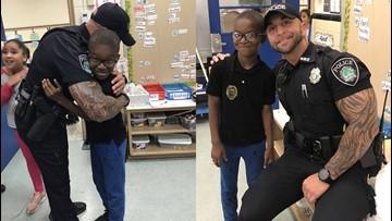 Newport News officer surprises boy who showed him kindness on Easter