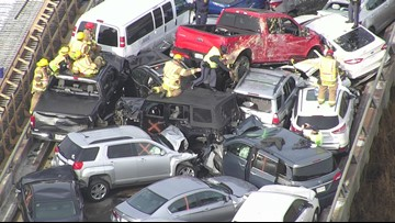 69 vehicles involved in crash on Interstate 64 in Virginia; dozens of people treated at hospitals