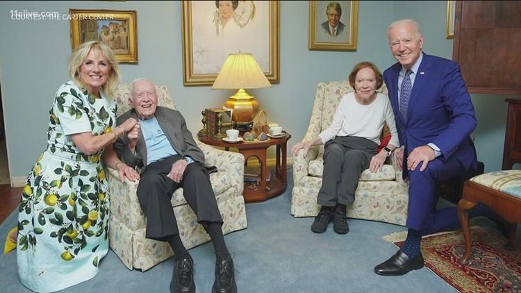 Photo released of President Joe Biden's visit with Jimmy Carter